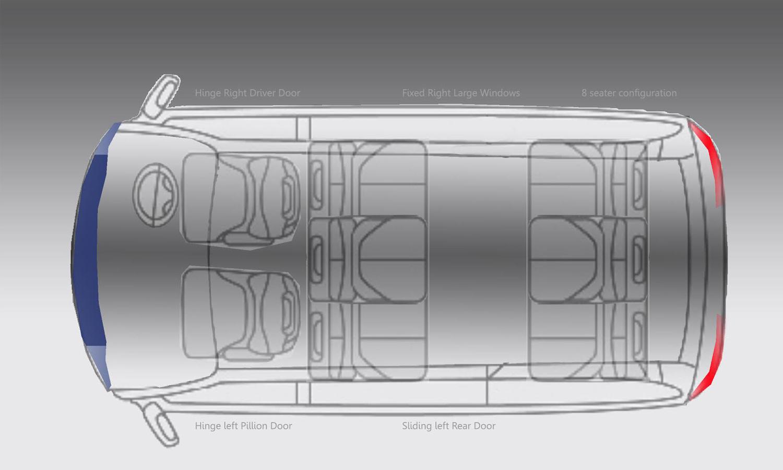 Sooorya Electric Car Window Diagram Neighbourhood Vehicle Based On Swappable Solar Recharged Batteries
